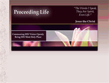 Tablet Preview of proceedinglife.org